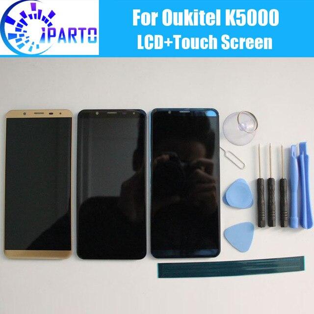 Oukitel K5000 wyświetlacz LCD + ekran dotykowy 100% oryginalny LCD Digitizer wymienny szklany Panel dla Oukitel K5000 + narzędzie + klej.