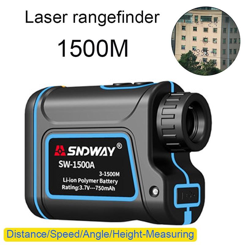 Hot 600/1000/1500M sniper hunting digital laser rangefinder Multifunctional Telescope golf rangefinder Build in 750mah battery