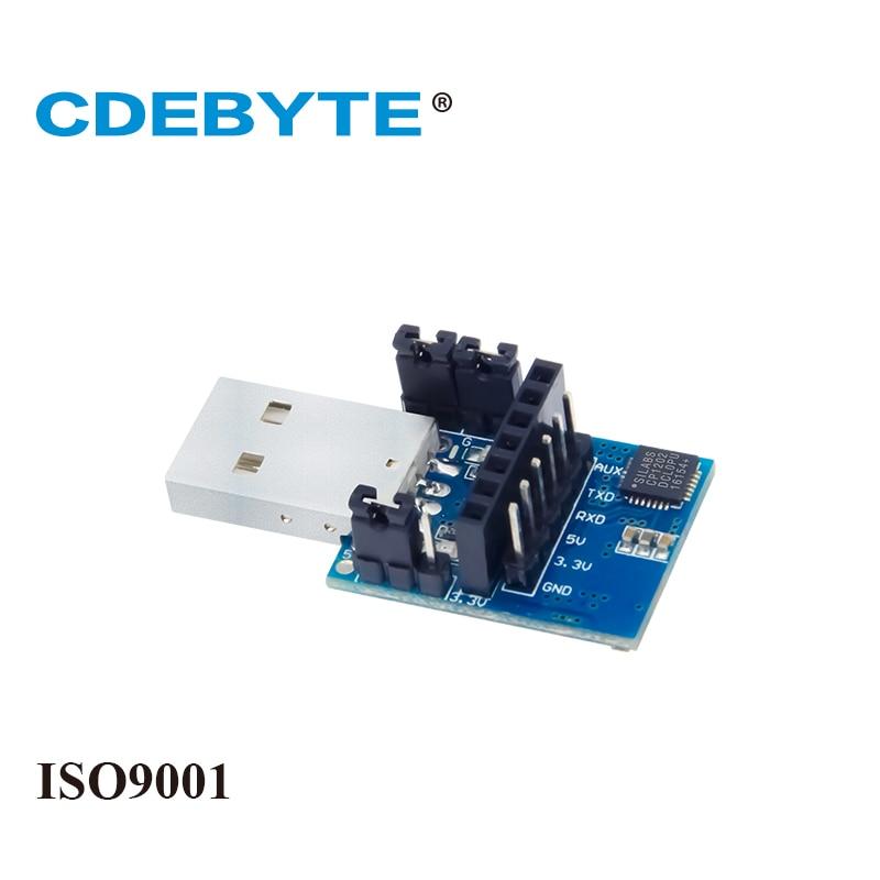Placa de PRUEBA 2 pc/lot USB-TTL 3,3 E15-USB-T2 usada para Módulo de puerto serie inalámbrico UART de V o 5 V