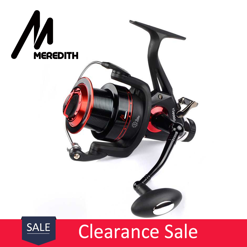 Meredith 5BB + 1RB 10KG 22LB 5.2: 1 Double Drag REAR Spinning Reel - Visvangst