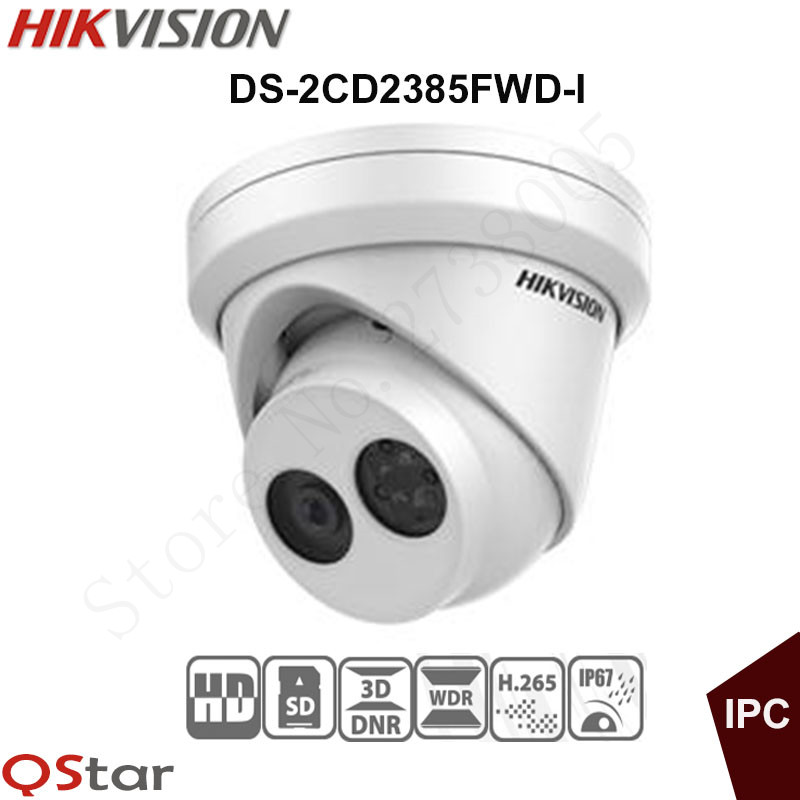 Hikvision 8MP H.265 English IP Camera DS-2CD2385FWD-I 4K Turret CCTV Camera 1080P 0NVIF IP67 Upgradable POE Security Camera зимняя шина nokian hakkapeliitta 8 suv 265 50 r20 111t
