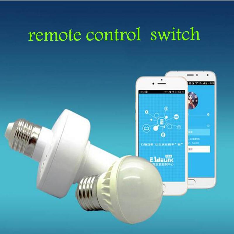Sonoff E27 Slampher RF WiFi 433MHz traadita intelligentne valguslambi lambi hoidja nutikas kodu kaugjuhtimispult IOS Androidi kaudu