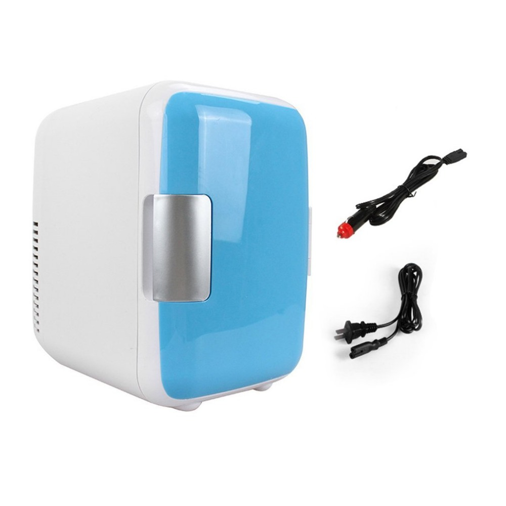 Compact Size 4L Car Refrigerators Or Dual-Use 4L Home Car Use Refrigerators Ultra Quiet Low Noise Car Mini Refrigerators Freezer