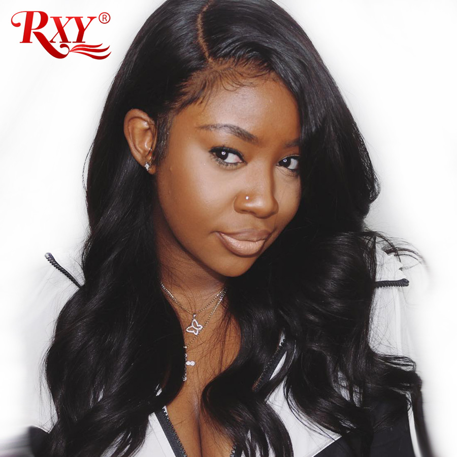 360 Lace Frontal Wig Pre Plucked With Baby Hair Brazilian Body Wave Lace Wig Lace Front Human Hair Wigs For Women RXY Remy Black