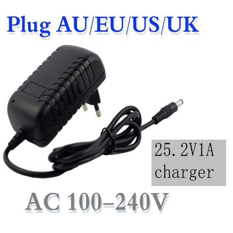 1 Pc Best Price 25.2 V 1000mA 1A 5.5 * 2.1mm Universal AC DC Power Supply Wall Adapter Charger For Lithium Battery EU / AU / US