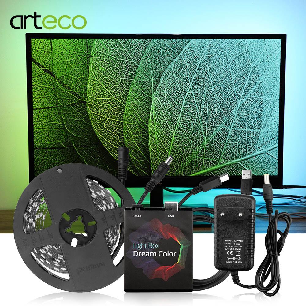 WS2812b RGB USB LED Strip Light 5050 SMD HDTV Monitor