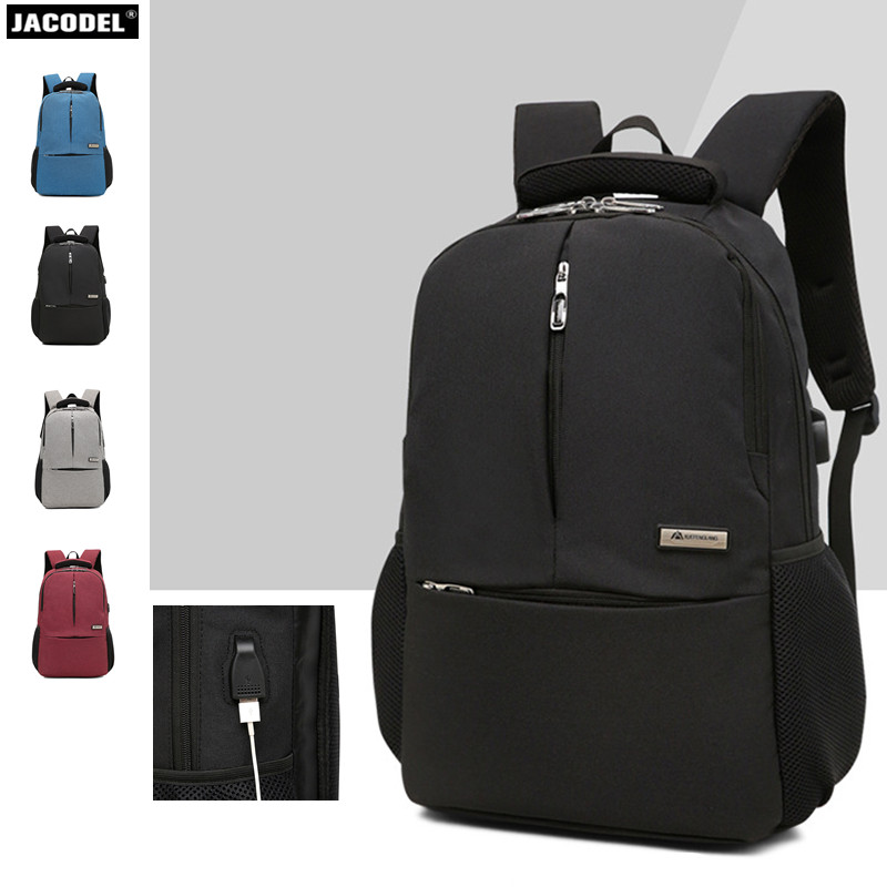 Jacodel 15 15.6 inch Laptop Bag Anti Theft Backpack With Usb Charging School Notebook Bag Men Oxford Waterproof Travel Backpack 17 3 17 15 15 6 inch laptop bag anti theft backpack with usb charging school notebook bag men oxford waterproof travel backpack