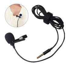 Mini Portable Clip-on Lapel Lavalier Condenser Mic Wired Microphone for iPhone iPad Android Smartphone DSLR Camera Computer PC L
