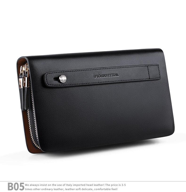 05236ed6ce59 WilliamPOLO модный бренд высокого качества клатч мужской кошелек ...