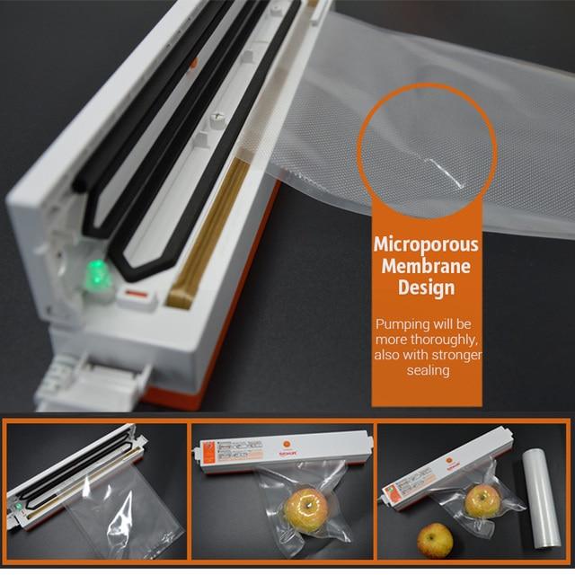 TINTON LIFE Food vacuum sealer Storage saver bags Vacuum Plastic rolls 5 size Bags For Kitchen Vacuum Sealer to keep food fresh Vacuum Food Sealers