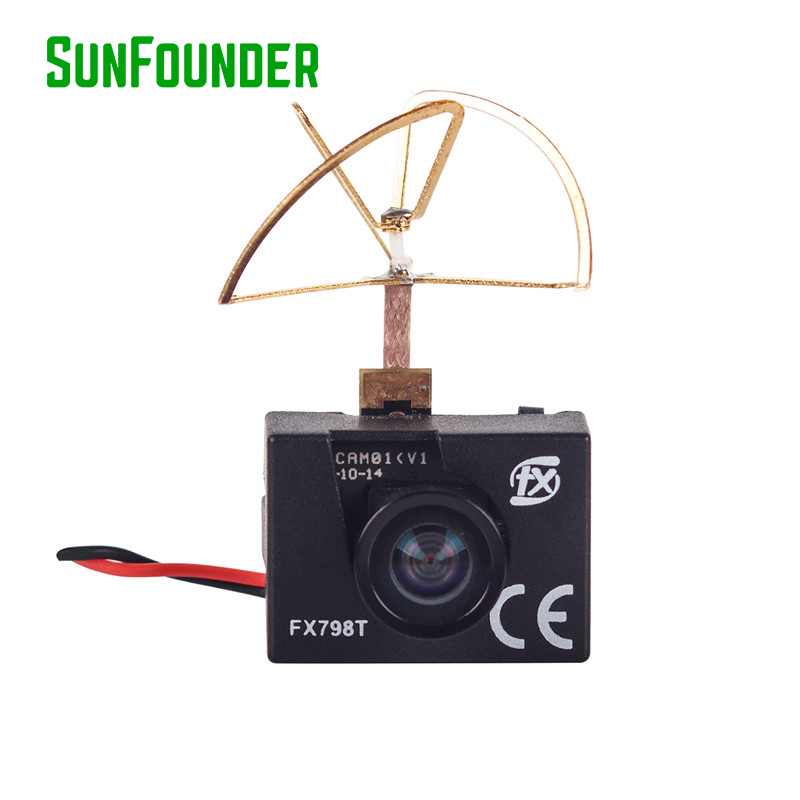 FX798T 5.8G 25mW 40CH Mini Transmitter Camera Combo For FPV Multicopter Quadcopter Helicopters Airplanes skyzone fpv ts5813s 5 8g 25mw 40ch mini av wireless transmitter for mini multicopter qav250