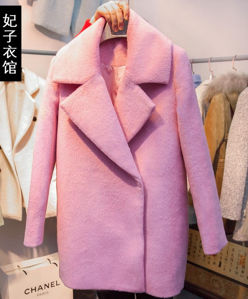 Popular Wool Pink Coat-Buy Cheap Wool Pink Coat lots from China ...