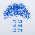 Pro 50 Pcs/Bag Disposable Orthodontic Cotton Roll Holder Blue Clip Isolator Tool For Dental/Dentist Clinic New Arrival