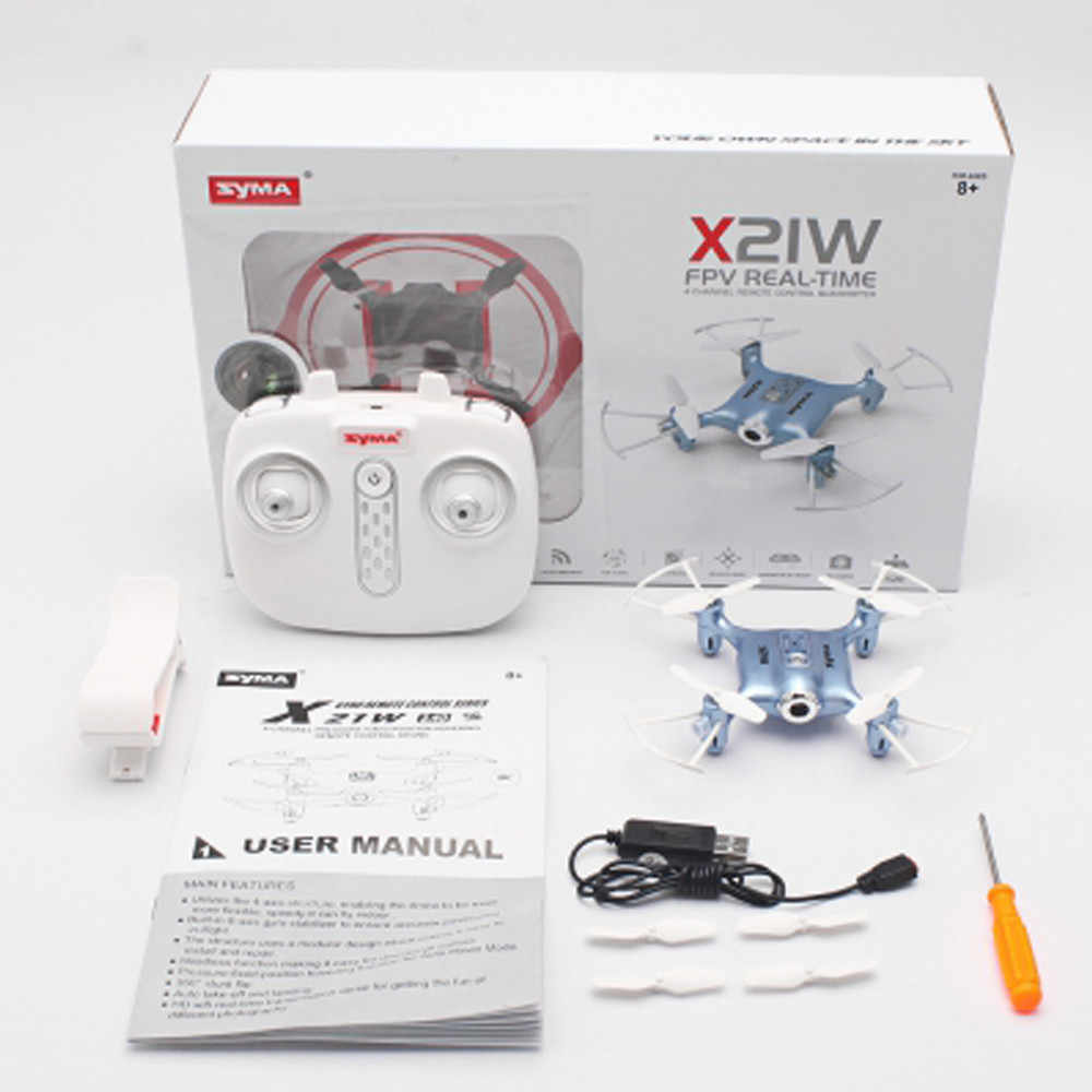 HINST 2019 Новая серия Syma X21W Wifi FPV мини Дрон HD камера видео светодиодный нано Карманный RC Квадрокоптер JAN8