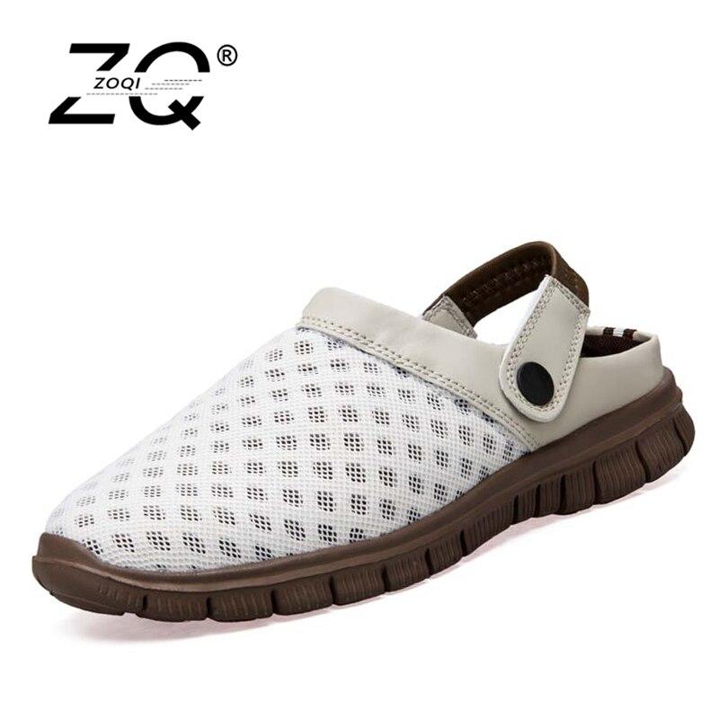 ZOQI Big Size 36-45 Men Sandals New Brand Flip Flops Men Beach Slippers For Women Summer Shoes Flat Sandals Men Flip Flops 2017