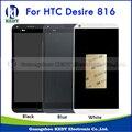 Para htc desire 816 816 w 816g 816 h display lcd original + digitador da tela de toque peças de reposição assembléia com moldura do quadro