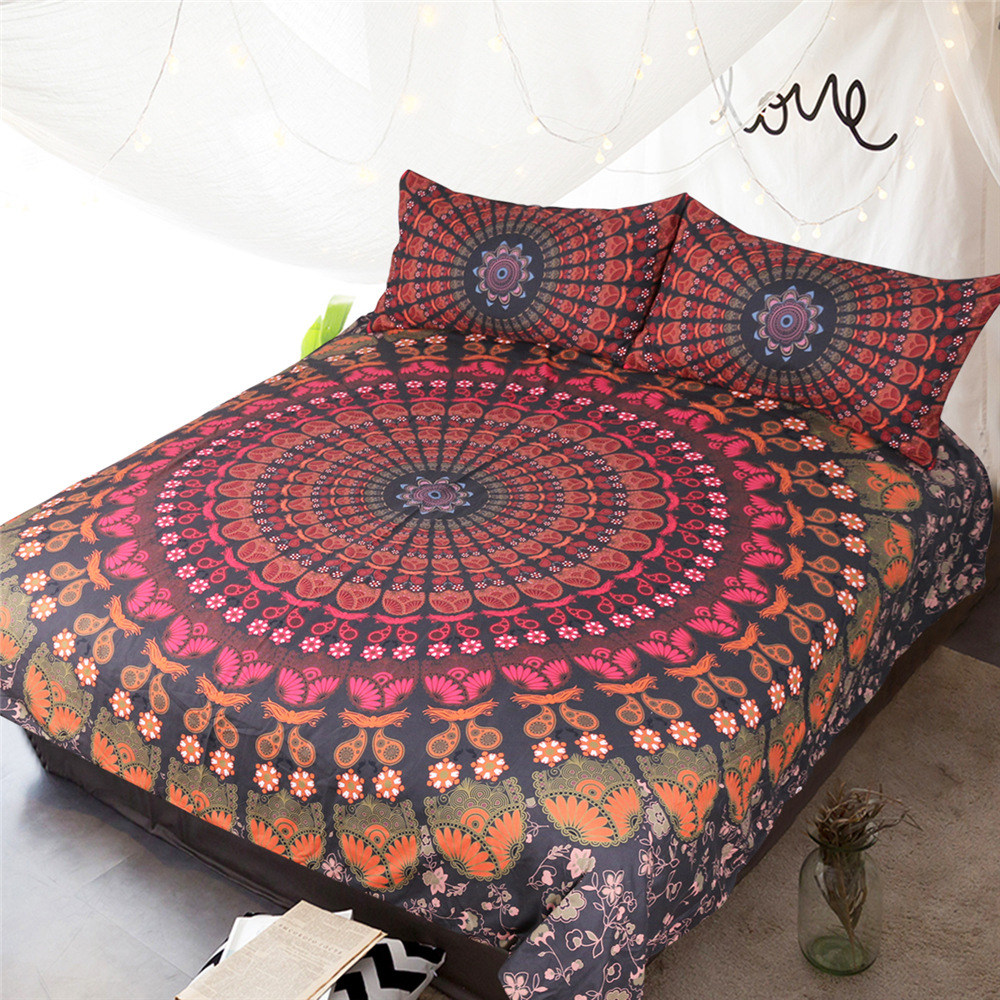 Bohemian 3d comforter bedding sets Mandala duvet cover set winter bedsheet Pillowcase queen king size Bedlinen bedspread in Bedding Sets from Home Garden