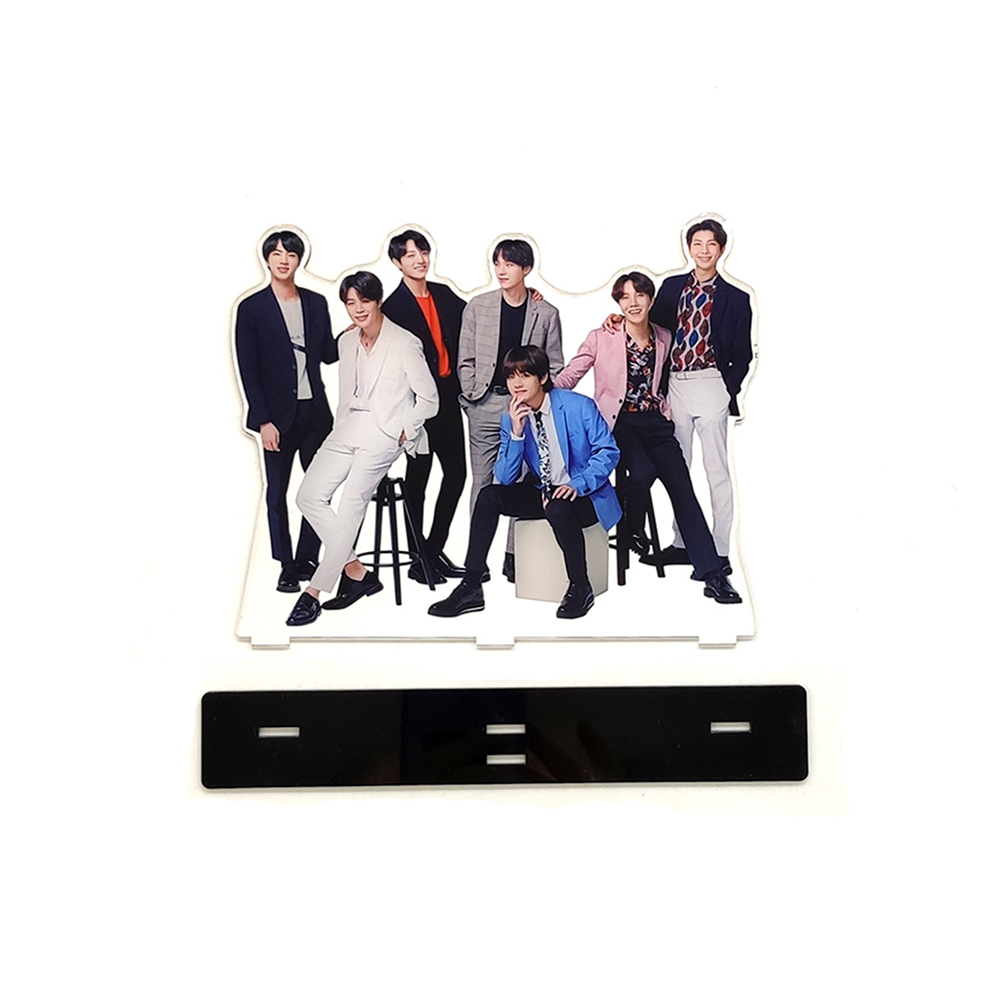 Love Thank You KPOP bangtan boys group family acrylic stand figure J Hope Jimin Jin Jung Kook RapMonster SUGA V-in Action & Toy Figures from Toys & Hobbies