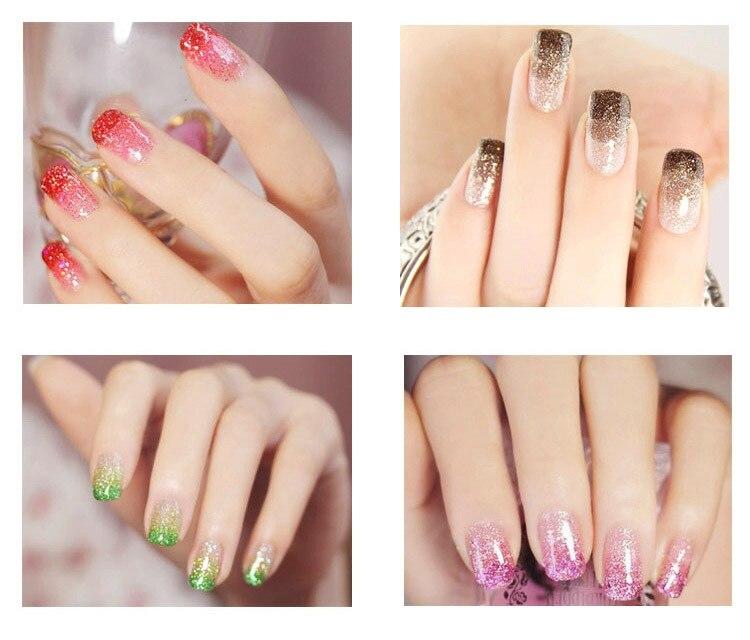 Fashion 12 Bling Metal Glitter Nail Art Аксессуарлар - Маникюр - фото 6