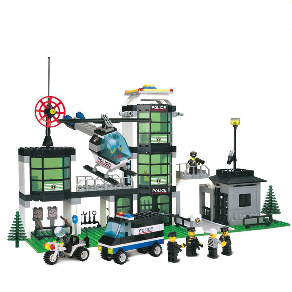 SuSenGo Model Building Kits City Compatible with Lepin Hotel Police 3D Blocks Educational Building Toys Gift for Children lepin 02012 city deepwater exploration vessel 60095 building blocks policeman toys children compatible with lego gift kid sets