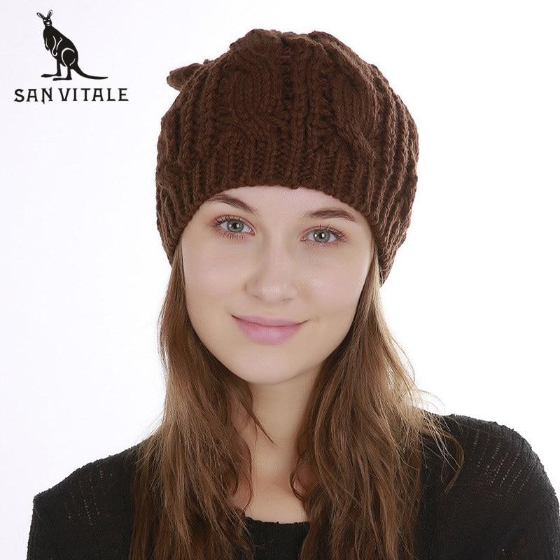 Skullies     Beanies   Hats Women Hats Winter Warm Famous Brand   Beanie   2018 Fashion Plaid Gift Ski Mask For Dress Fur Pompom Designer
