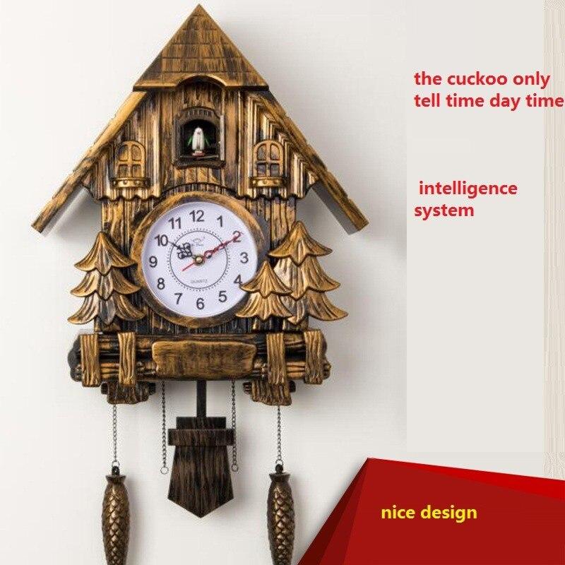 Coucou horloge De Mode salon horloge murale 20 pouces alarme horloge qualité swing montre de poche moderne bref