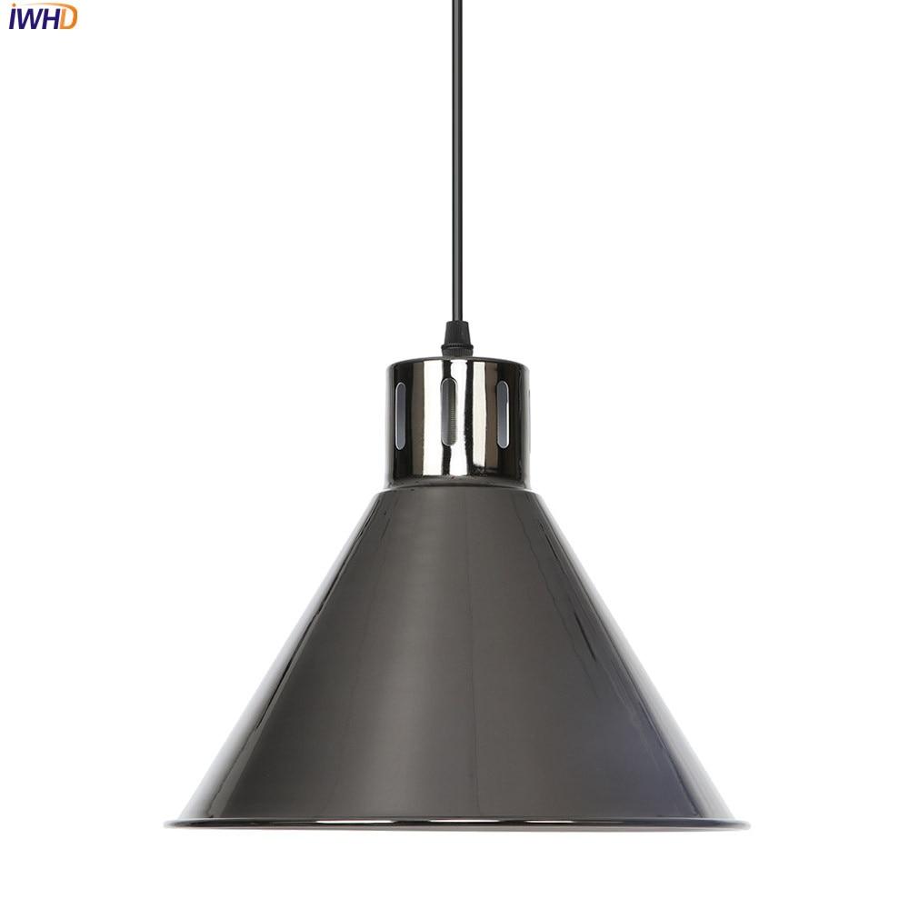 IWHD Vintage Nordic LED Pendant Light Iron Adjustable Hanglamp Retro Pendant Light Fixtures Home Lighting Suspension Luminaire|Pendant Lights| |  - title=