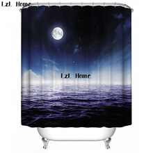 LzL Home Fancy Seaside Scenery Shower Curtain Bath Decorations Bathroom Decor Sets With Hooks Marriage Gifts