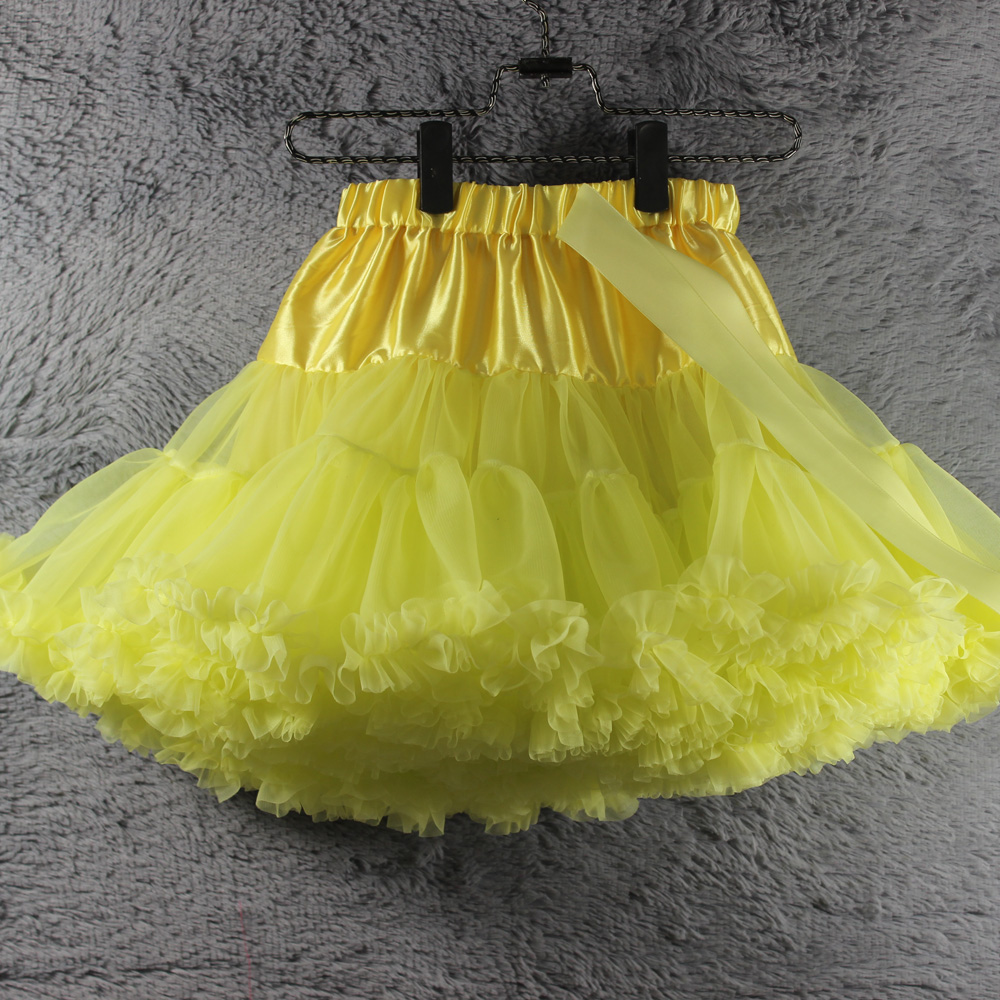 39fa02b21528 Light Yellow pettiskirt toddler Girls pettiskirt fluffy tutus baby  photograph props summer girls clothing many colors instock-in Skirts from  Mother & Kids ...