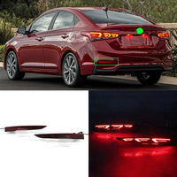LED Rear Bumper Reflector Fog Brake Turn Indicator Lights For Hyundai Accent 2017 2018 A Type