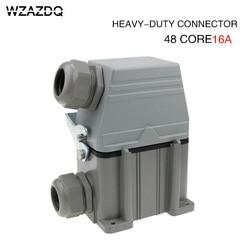 Heavy duty connettore Hdc-he-048 rettangolare 48-core di alta base industriale spina aviazione impermeabile presa