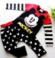Hot Boys Casual Juego de los niños deportes de otoño de los bebés de Minnie Mickey ropa conjunto de manga Larga niña Regalos de Navidad