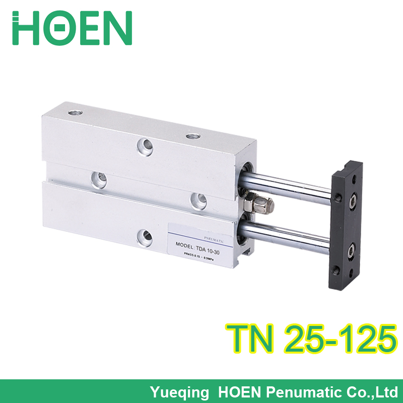 FREE shipping TN 25-125 Bore 25mm Stroke 125mm Double Rod Pneumatic Air Cylinder dual guide air cylinder TDA25*125 free shipping tn 25 30 airtac type tn series twin rod guide dual shaft guide air pneumatic cylinder tn25 30 tn 25 30 tn25 30