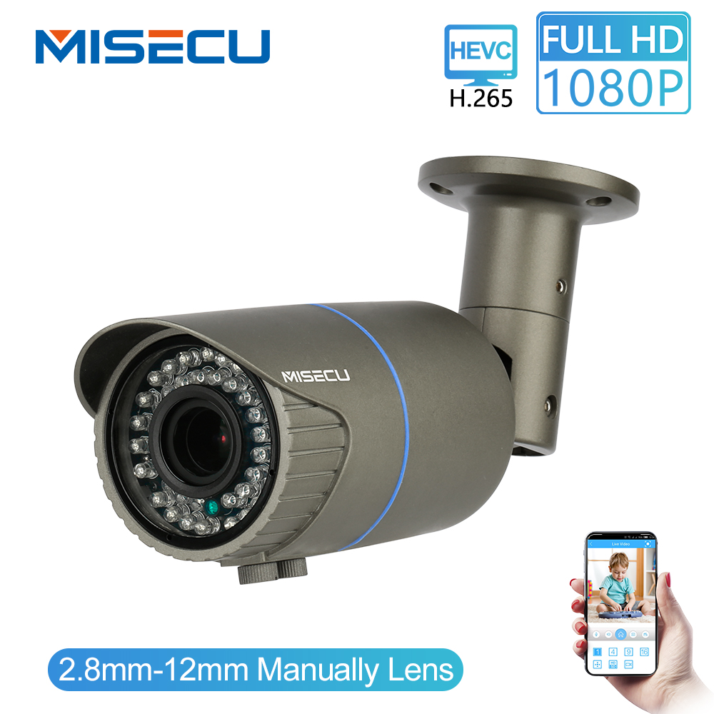 MISECU Full HD 2 0MP 1080P 2 8 12mm Manual Zoom Camera 25fps IP Power Over
