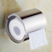 Free shipping Solid Stainless Steel brushed nickel WC Toilet Paper Holder Toilet Tissue Roll Holder SU858