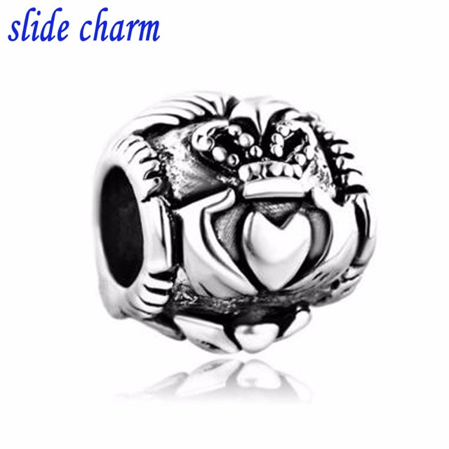 Slide Charm Free Shipping Silver Irish Bracelet Claddagh Best Friend Fit Pandora