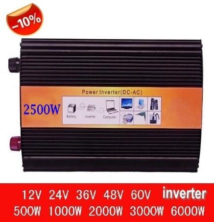 цена на Hybrid onda sinusoidale pura Converter 12V 2500W 2500w inverter Pure sine wave inverter pv inverter 2500w power inverter
