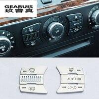 Auto styling klimaanlage CD control Tasten dekoration panel Aufkleber abdeckungen für BMW e60 5 serie Innen auto zubehör