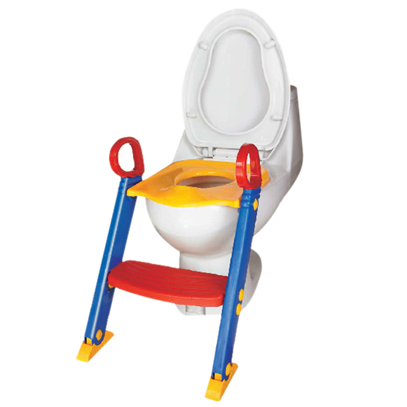 Baby Toilet Trainer Safety Seat Chair Step with Adjustable Ladder Infant Toilet Training Folding Seat
