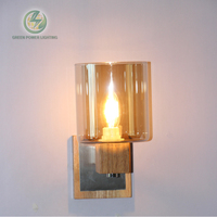 indoor wall lamp wood wall sconce E14 socket, wall lamps input 100 240V