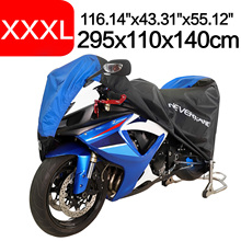 XXXL 295x110x140 190T Black Blue Design Waterproof Motorcycle Covers Motors Dust Rain Snow UV Protector Cover Indoor Outdoor D45 200x90x100cm black silver 190t waterproof motorcycle covers outdoor indoor motorbike scooter motor rain uv dust protective cover