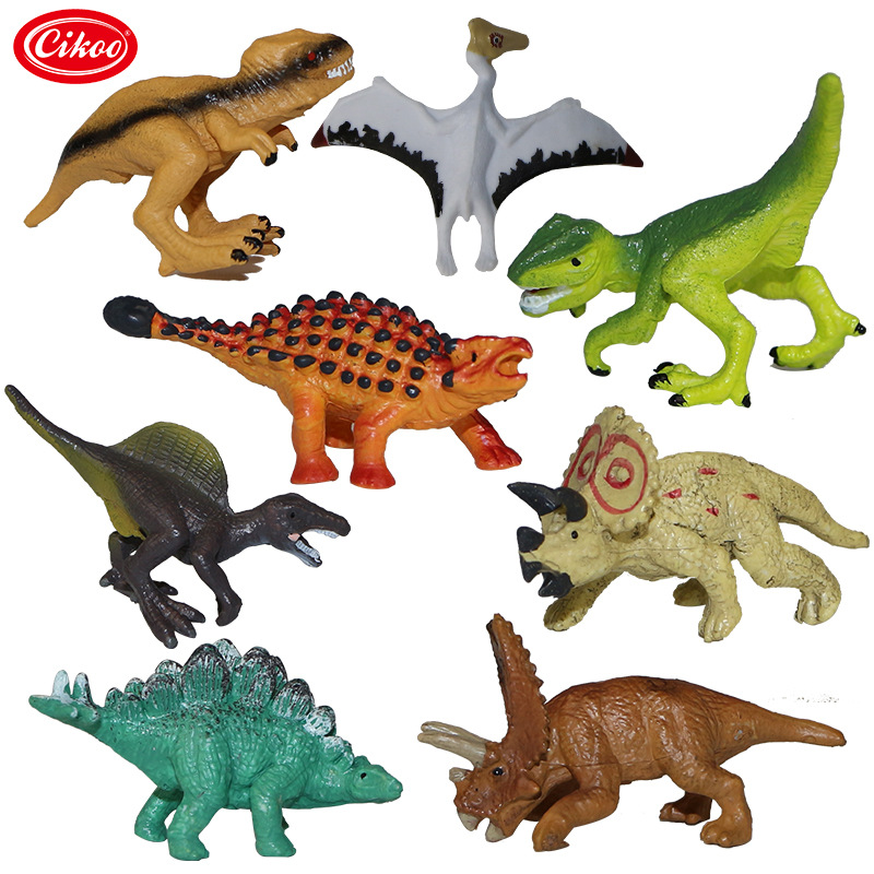 8pcs/set Mini Dinosaurs Model Plastic Animal Jurassic Dinosaur Action Figure Toys Collection