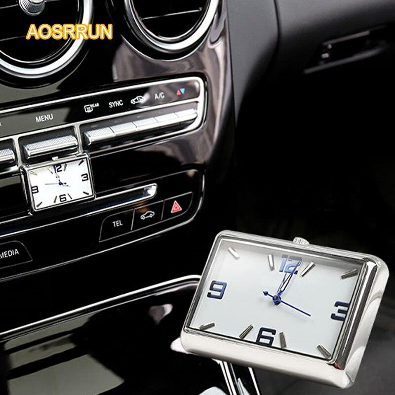 AOSRRUN An On-board Quartz Watch Car Accessories For Mercedes Benz C-Class W205 C200 C260 C300 2015 GLC A-Class E-Class GLK GLA