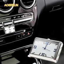 AOSRRUN на борту кварцевые часы автомобильные аксессуары для Mercedes Benz c-класс W205 C200 C260 C300 2015 GLC a-класс E-Class GLK GLA