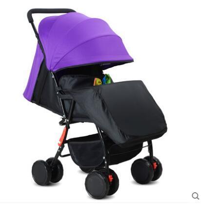 Cochecito de bebé plegable portátil ultraligero niño bebé de cuatro ruedas paraguas coche carro absorción de choque de otoño e invierno