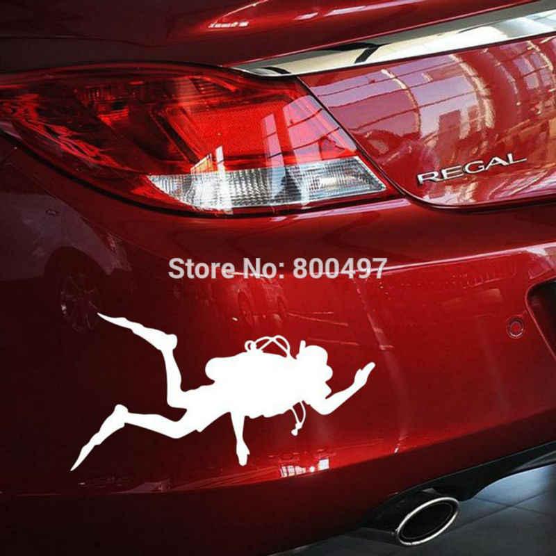 Terbaru Mobil Meliputi Pergi Memancing Diving Mobil Sticker Auto Aksesoris Mobil Decal untuk Toyota Ford Chevrolet Volkswagen Hyundai Kia Lada