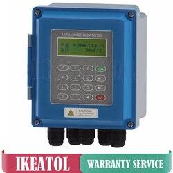 Cyfrowy przepływomierz ultradźwiękowy TUF-2000B-TM-1 przetwornik DN50mm-DN700mm ścienny ultradźwiękowy miernik przepływu cieczy IP67 ochrona
