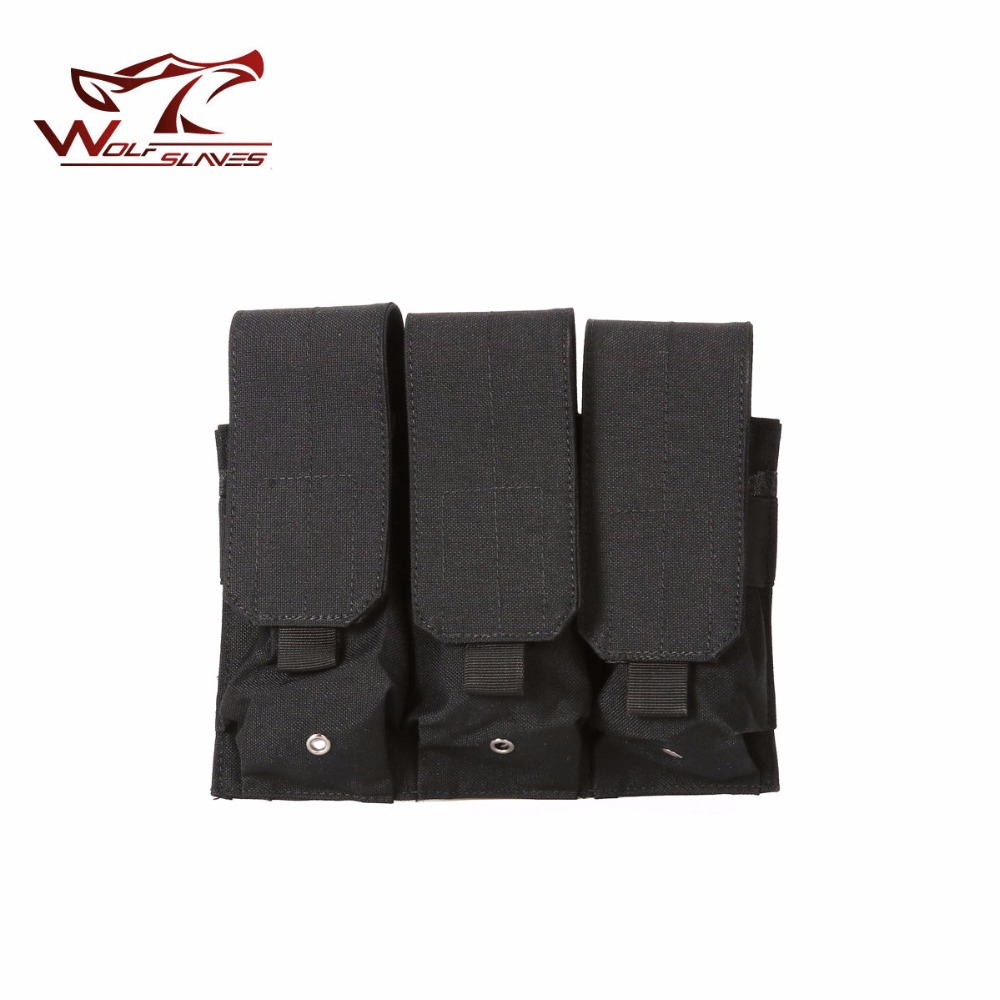 Tactical MOLLE Triple Magazine Pouch FAST AK AR M4 FAMAS Mag Military Pouch for Paintbal ...