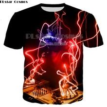 PLstar Cosmos New Funny T shirts DJ TV Station 3d Printed T-shirt For Women/Men Short Sleeve shirt Music Disco Streetwear