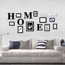 цена на Home Design Wall Sticker Photo Picture Frames,Room Decor Rectangle Frame for Family Picture,9pcs Picture Album Photo Frames Set